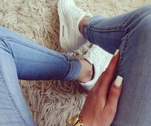 nike, nails, and white image
