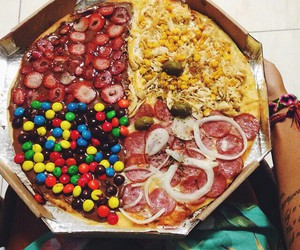 pizza, food, and candy image