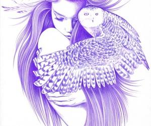 girl and owl image