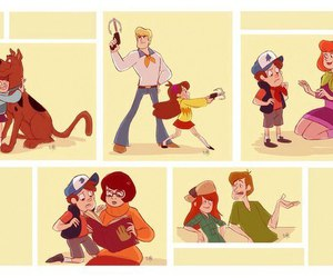 scooby doo and gravity falls image