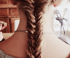 braid, christmas, and fishtail image