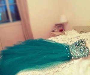 blue dress, evening dress, and prom dress image
