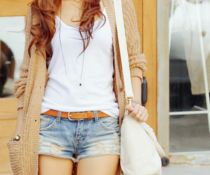 asian, cardigan, and necklace image