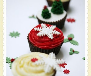 buttercream, chocolate, and christmas tree image