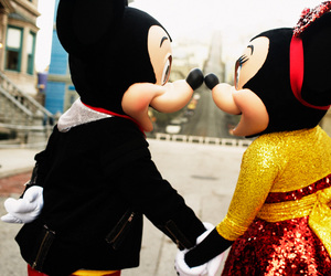 love, disney, and mickey image