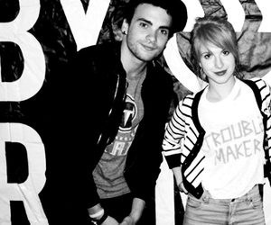 balck and white, hayley williams, and paramore image