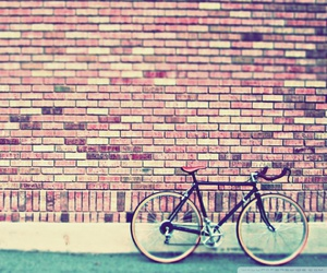 vintage, bike, and wall image