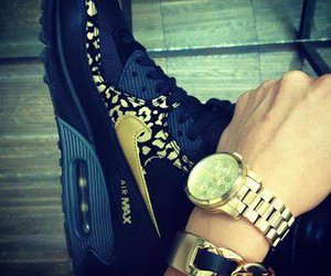 nike, gold, and air max image