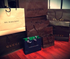 Louis Vuitton, shopping, and gucci image