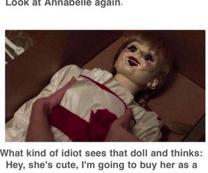 annabelle, doll, and funny image