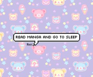 manga, kawaii, and sleep image
