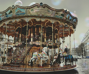 carousel, vintage, and fun image