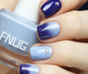 nails, blue, and art image