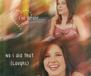 brooke, laugh, and one tree hill image