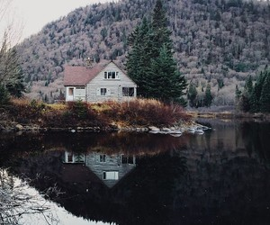 nature, house, and lake image