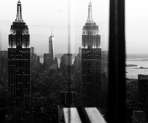 black and white, buildings, and grey image