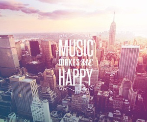 music, happy, and city image