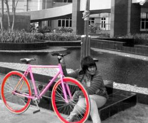 bicycle, pink, and my fixie image