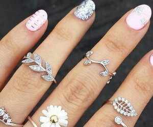 beauty, nails, and silber image