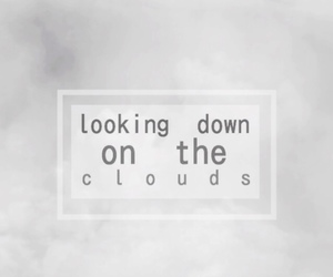 clouds, one direction, and Lyrics image