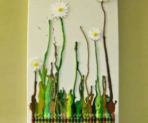 crayon, flowers, and art image
