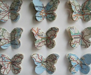 map, butterfly, and city image