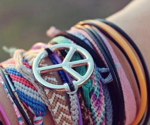 bracelet, hipster, and fashion image