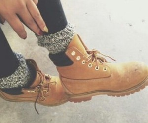 shoes, timberland, and winter image