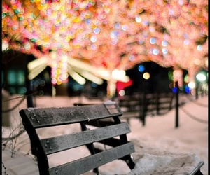 light, snow, and christmas image