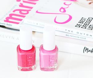 magazine, nail polish, and nails image