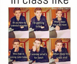 class, school, and funny image