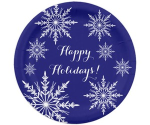 blue, plates, and holiday image