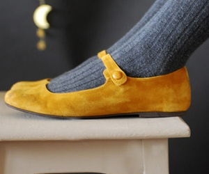 yellow, shoes, and fashion image