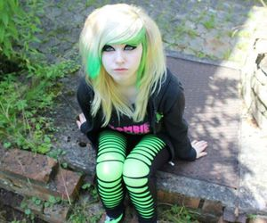 alternative, dyed hair, and scene image