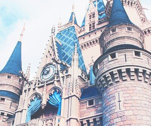 castle, disney, and travel image