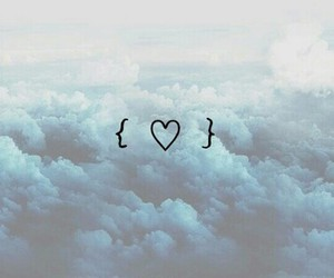 clouds, love, and blue image