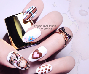 art, bear, and prettynails image