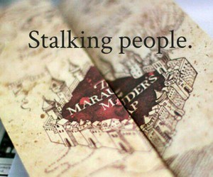 harry potter, stalking, and marauders map image