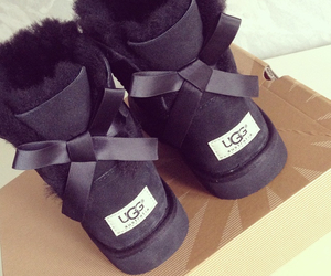 black, girly, and uggs image