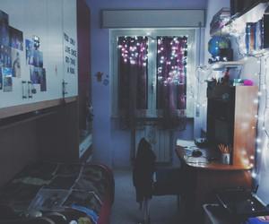bedroom, diy, and lights image