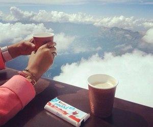 kinder, sky, and coffee image