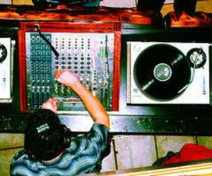dj, music, and records image