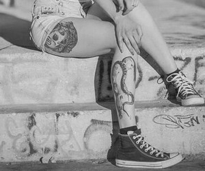 tattoo, girl, and converse image
