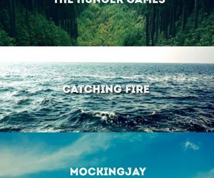 catching fire, mockingjay, and book image