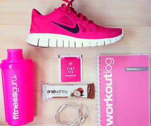 active, fitness, and pink image