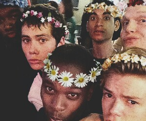 the maze runner, thomas sangster, and dylan o'brien image