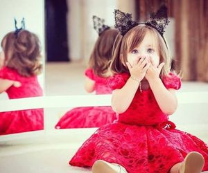 baby, red, and kids image