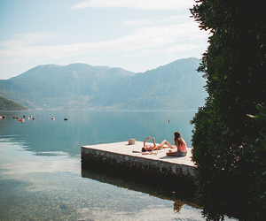 summer, nature, and lake image
