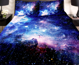 bed, galaxy, and universe image