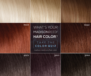 quiz, hair color, and madison reed image